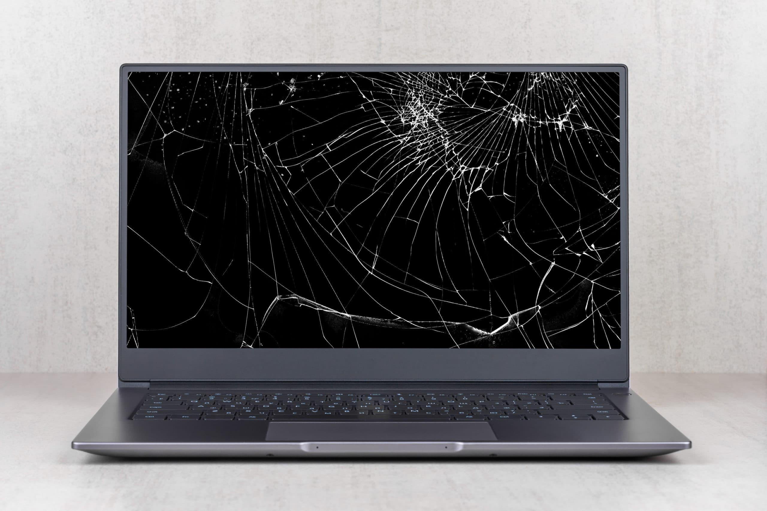 écran cassé